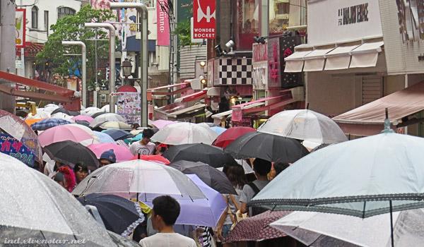 Umbrellas in Harajuku