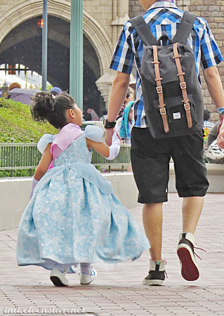 Cinderella and her daddy. (Before evil stepmother came along, I presume.)
